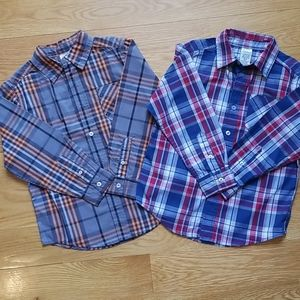 Faded Glory boys button up long sleeve size S(6/7)